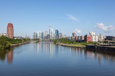 river main and skyline of frankfurt