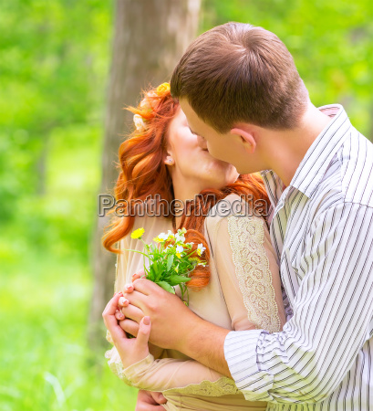 loving couple outdoors