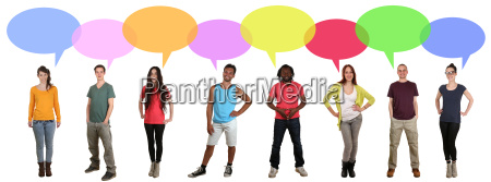 many people multicultural people group talk