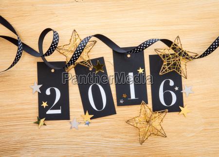 2016 glitter decoration