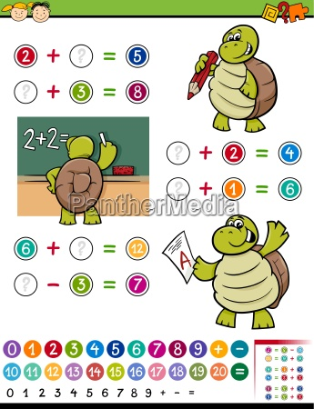 math game cartoon illustration