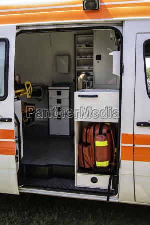 ambulance with medical equipment