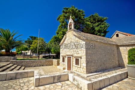 old stone chapel in primosten