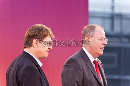chancellor candidate peer steinbrueck with ralf