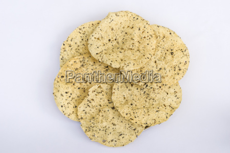 stack of fried masala papad