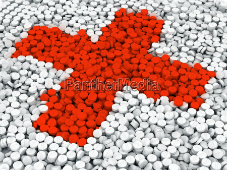 pills on ground