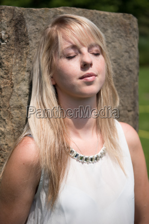portrait attractive young woman in the
