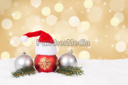christmas card with cap christmas decoration