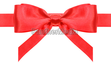 symmetric red bow with vertically ends