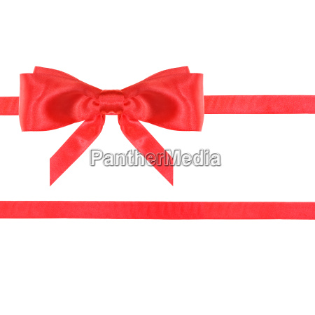 red satin bow knot and ribbons