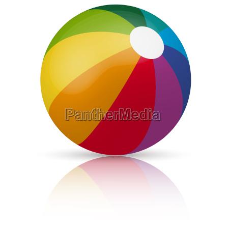 colored beachball