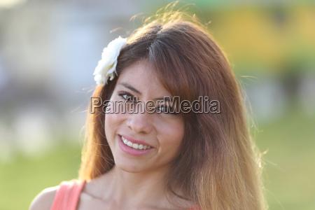 young peruvian woman in arequipa