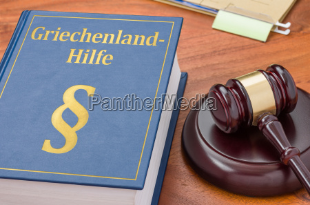 law book with richterhammer greece