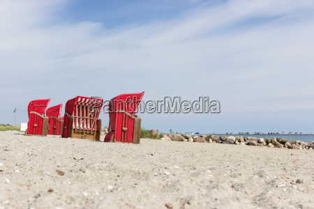 baltic sea beach with red beach