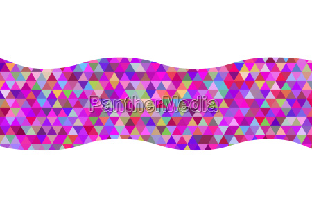 geometric abstract ribbon of triangles red