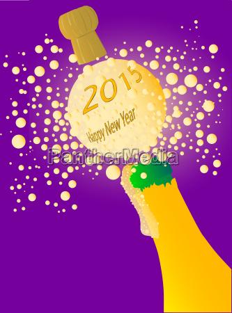 bubbly new year 2015