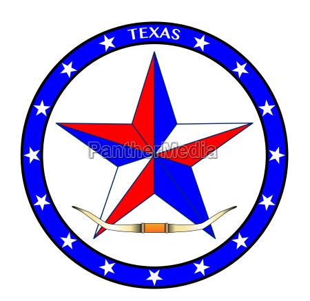 texas star and steer horns