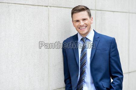 businessman posing at outdoors