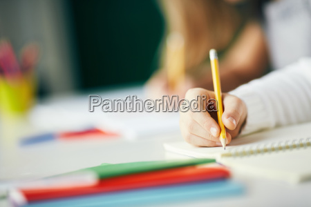 writing with pencil