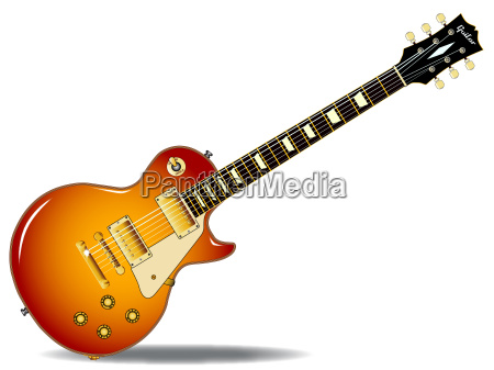 cherry sunburst guitar