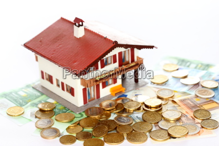 euro money and house