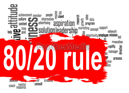 rule 80 20 word cloud with