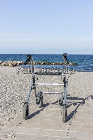 walker on the baltic beach