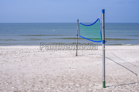 beach volleyball field on the beach