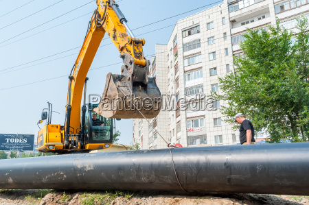 using of excavator as crane for