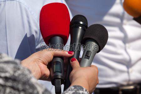 media interview microphones