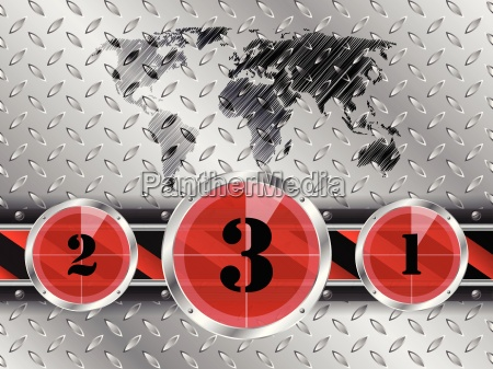 industrial background with countdown timer and