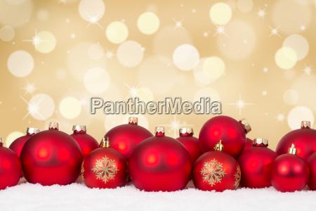 christmas card many red christmas balls