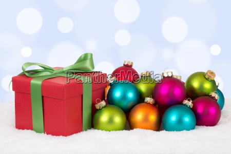 christmas gifts at christmas with colorful