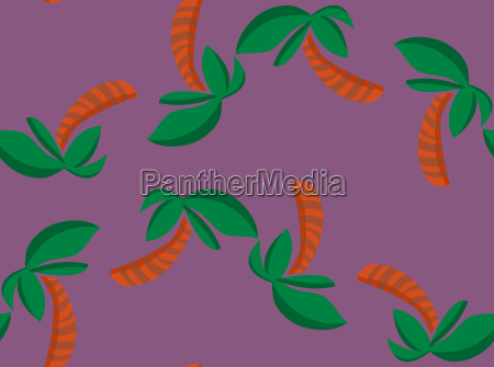 repeating palm tree shapes wallpaper