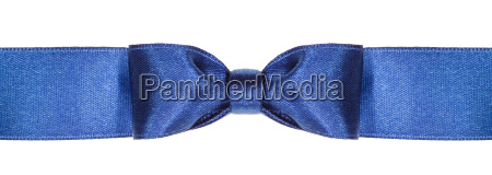 symmetric blue bow knot on wide