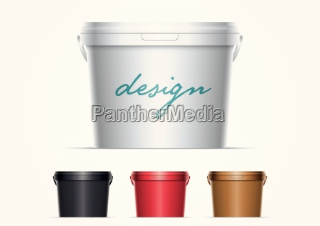 plastic paint bucket
