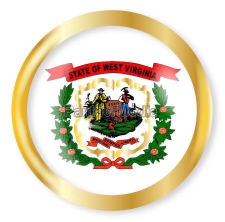 west virginia flag button