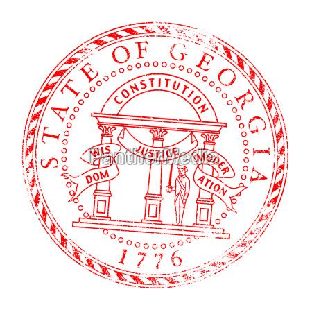 georgia seal stamp