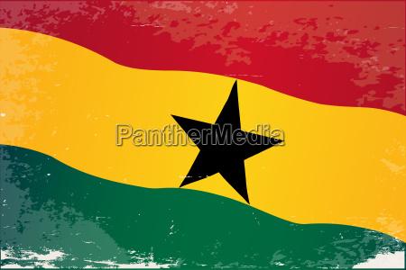 ghana flag grunge