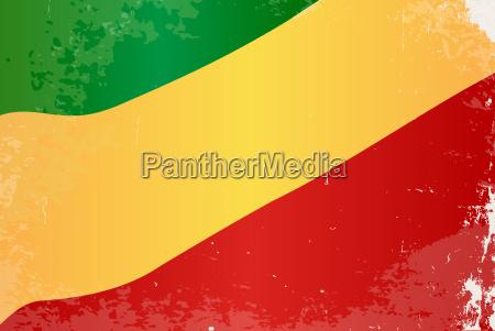 republic of the congo flag grunge