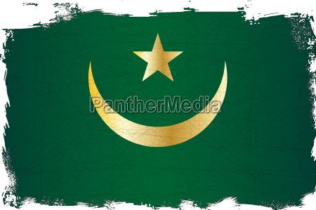 mauritania flag grunge