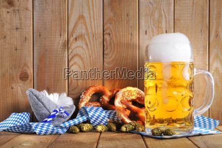 bavarian pretzels with beer