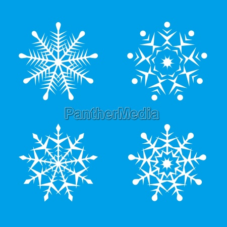 beautiful snowflake illustrations
