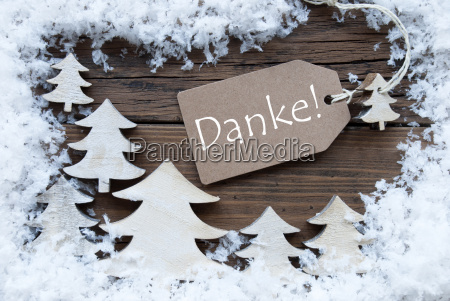 label christmas trees snow danke mean