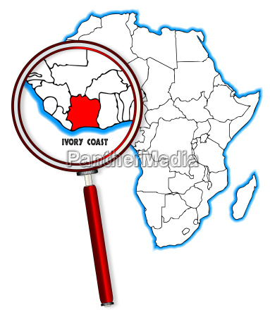 ivory coast under a magnifying glass