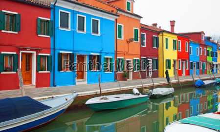 colourful houses burano italy
