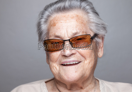 portrait of an elderly woman with