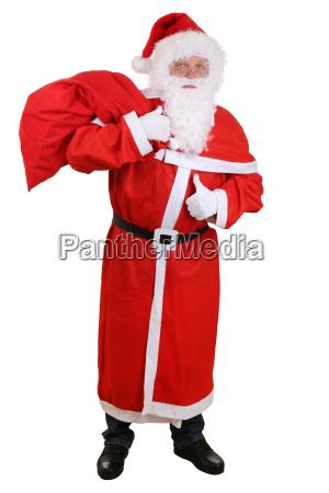santa claus santa claus with sack