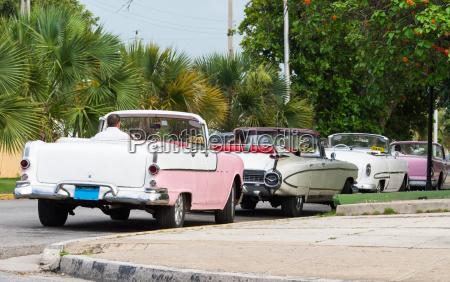 cuba american classic cars park in