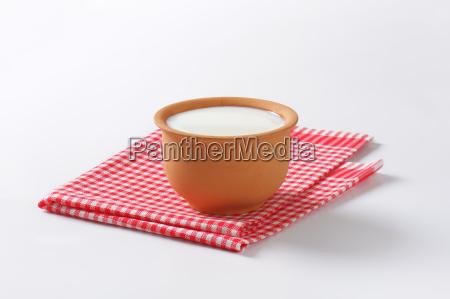 bowl of fresh buttermilk